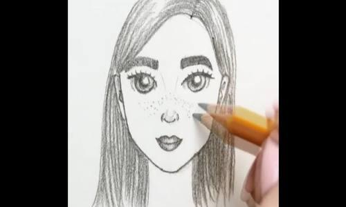 Cách vẽ mặt người chính diện và góc nghiêng
