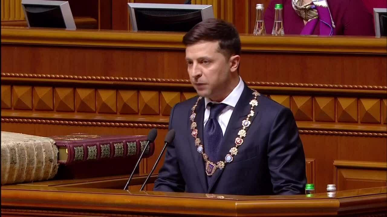 Diễn viên hài Ukraine tuyên thệ nhậm chức tổng thống