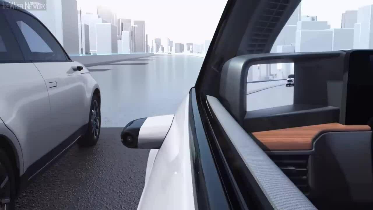 Ôtô điện của Honda sử dụng gương chiếu hậu bằng camera