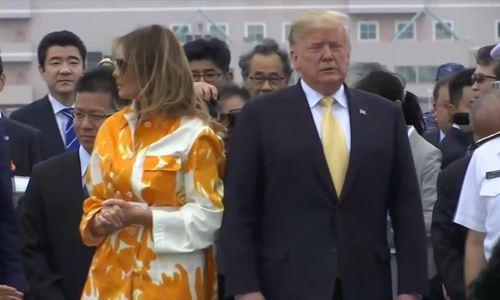 Trump, Abe thị sát chiến hạm lớn nhất của Nhật Bản