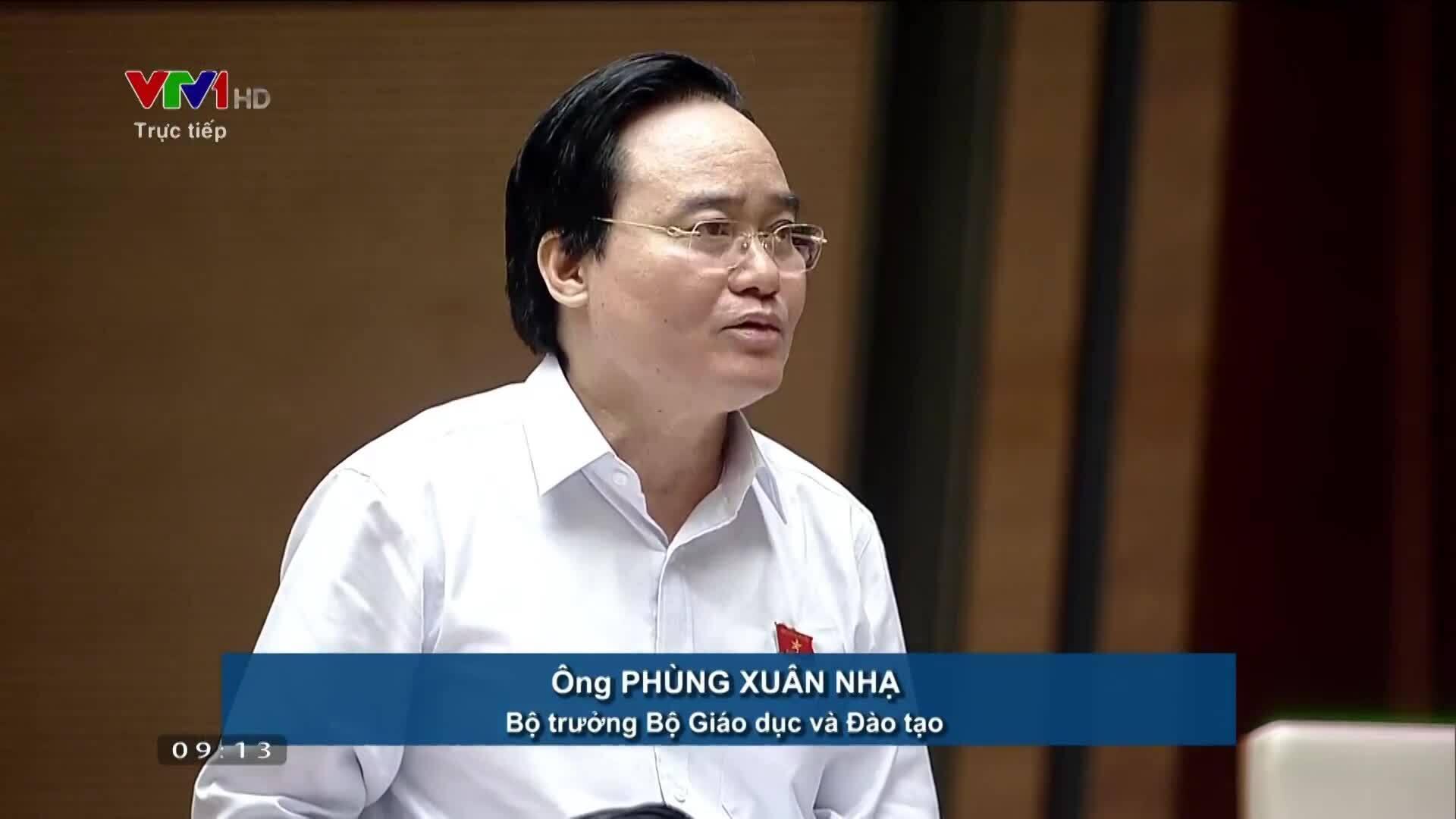 Bộ trưởng Nhạ báo cáo về tổ chức kỳ thi THPT Quốc gia 2019
