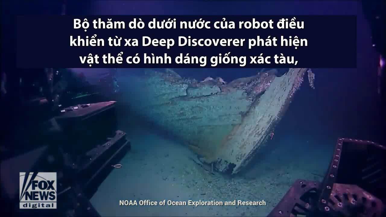 Phát hiện xác tàu thế kỷ 19 ở độ sâu gần 450 m