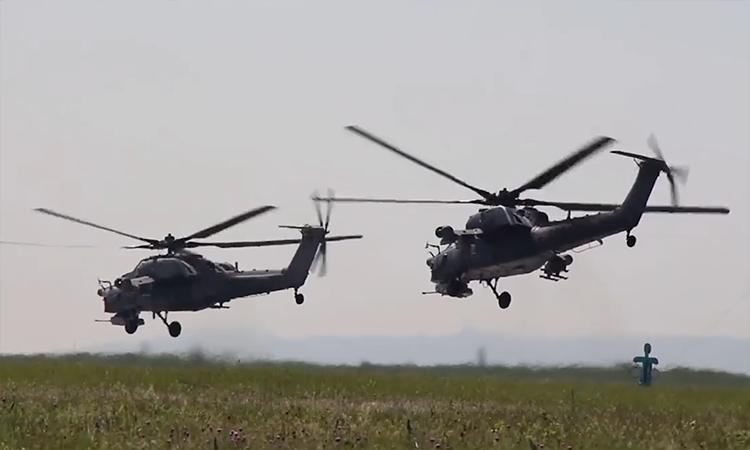 Phi công trực thăng Nga so tài tại hội thao cấp toàn quân