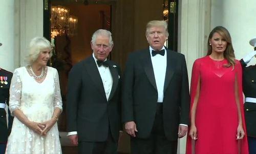 Trump đón vợ chồng Thái tử Anh