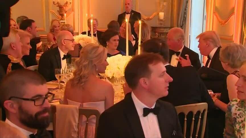 Trump mở tiệc thết đãi vợ chồng Thái tử Anh
