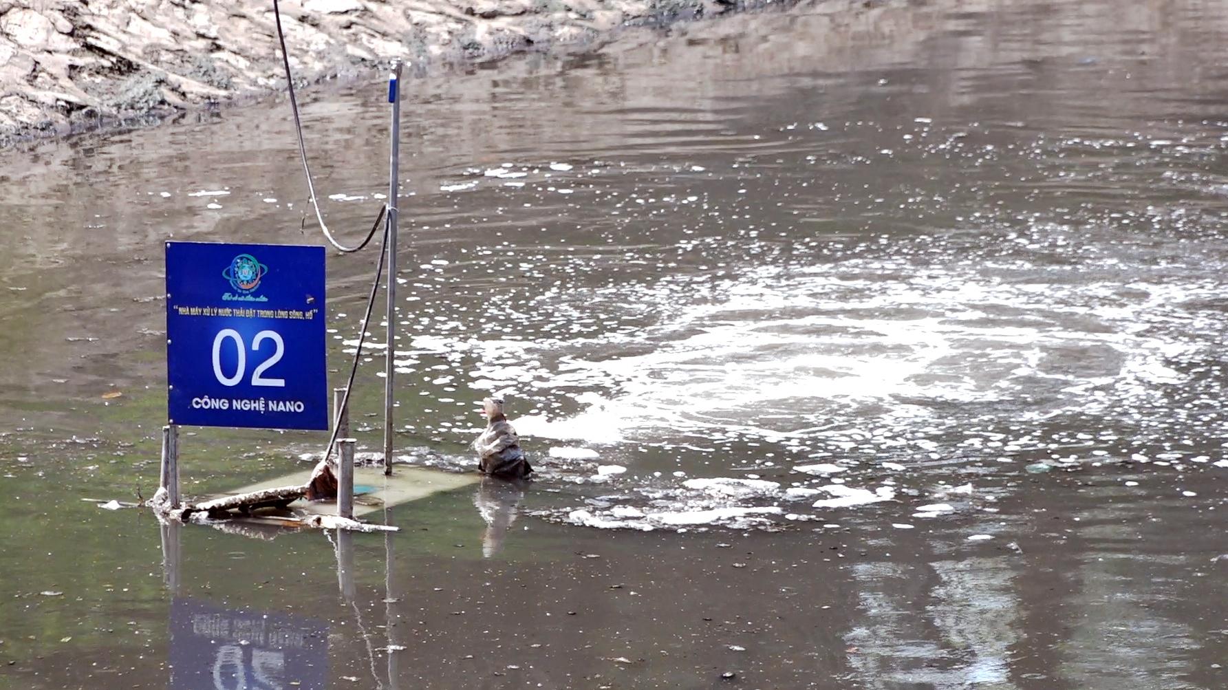 Lần đầu công bố kết quả làm sạch sông Tô Lịch bằng công nghệ Nano