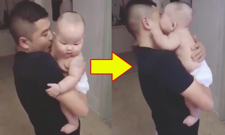 Cậu bé tấn công dồn dập vì bị bố hôn
