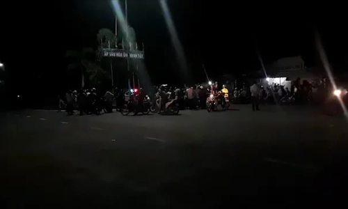 Video phong tỏa đồn biên phòng xảy ra nổ súng