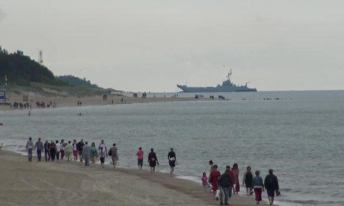 Tàu chiến Ba Lan đâm phải đá khi tập trận