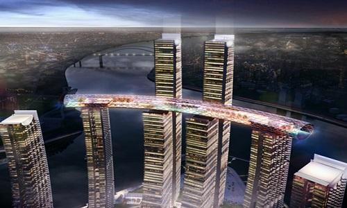 Trung Quốc sắp hoàn thành 'nhà chọc trời nằm ngang' 4,8 tỷ USD