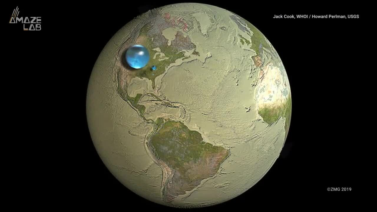 Toàn bộ nước trên Trái Đất gộp lại nhiều đến mức nào?
