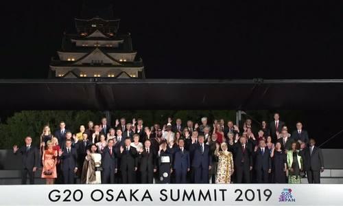 Thủ tướng Abe đãi tiệc lãnh đạo G20 tại lâu đài Osaka