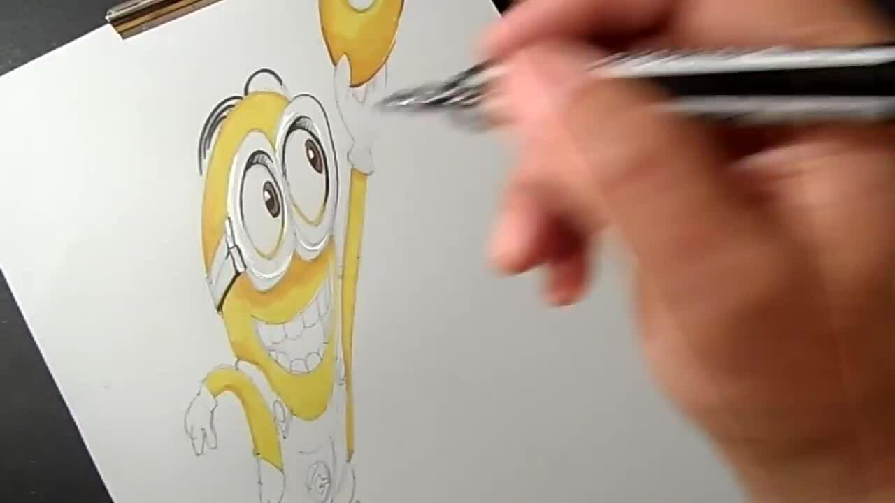Cách vẽ nhân vật hoạt hình minion 3D