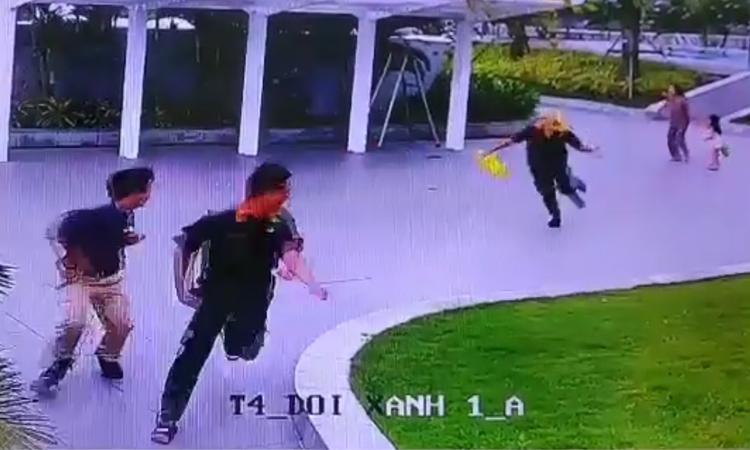 Cả nhóm chạy tán loạn khi vây bắt tổ ong