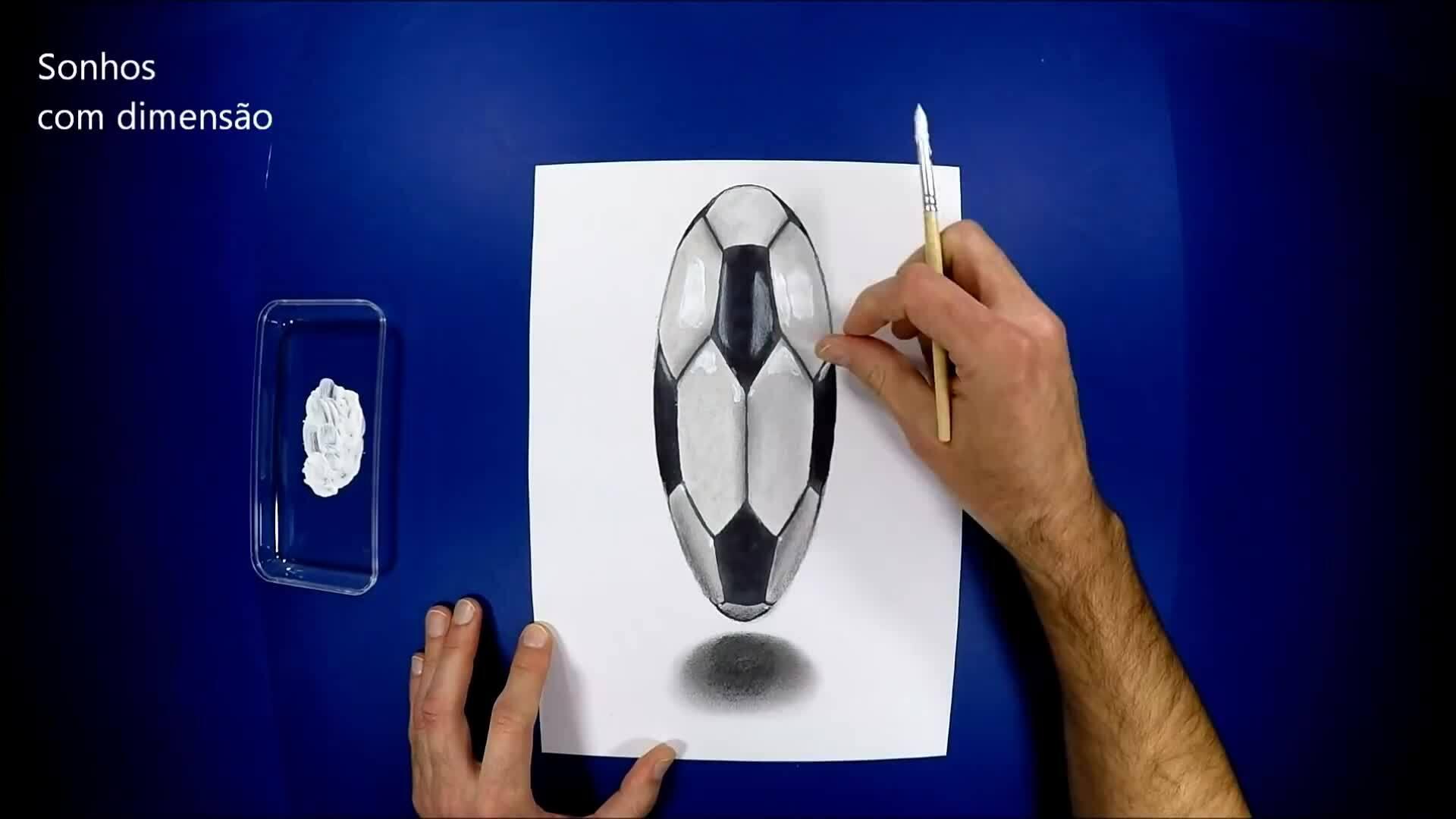 Dạy trẻ vẽ quả bóng hình 3D