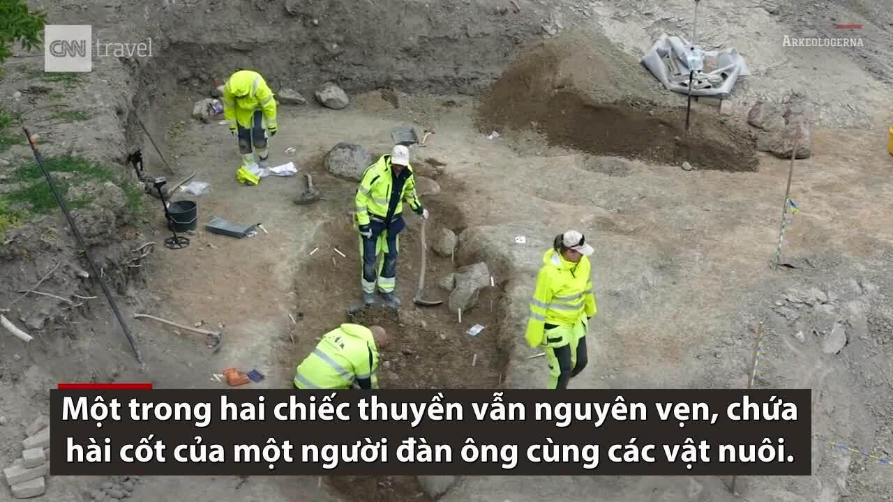 Phát hiện hai mộ thuyền nghìn năm tuổi ở Thụy Điển