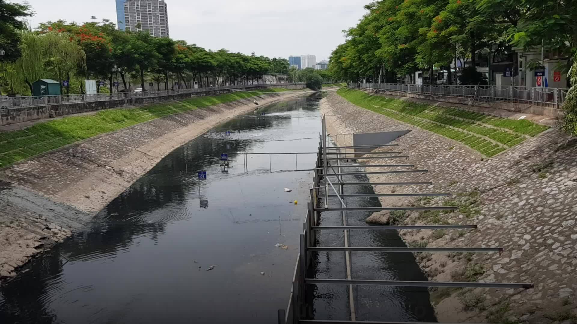 Video Khu xử lý phân hủy bùn sông Tô Lịch bằng công nghệ Nano-Bioreactor