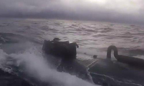 Tuần duyên Mỹ truy đuổi tàu bán ngầm chở gần 8 tấn cocaine
