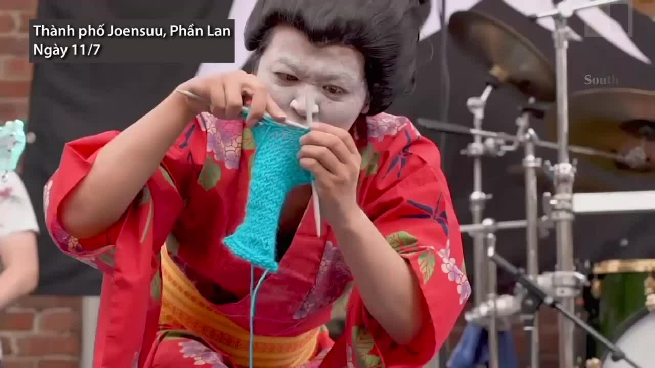 Giải vô địch đan len theo nhạc rock ở Phần Lan