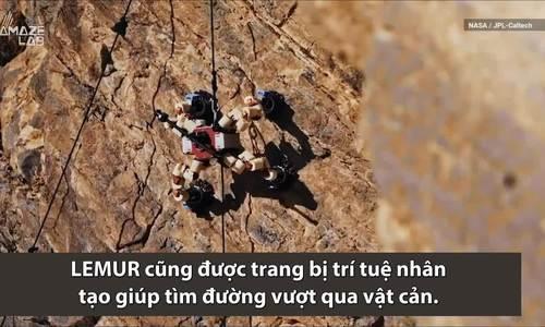 Robot 64 ngón chân của NASA leo vách núi