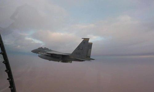 Radar 'Mắt rồng' xuất hiện trên tiêm kích Mỹ tuần tra gần Iran