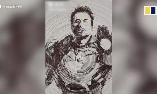 Chàng trai Trung Quốc dùng compa vẽ 3.000 vòng tròn thành hình Iron Man