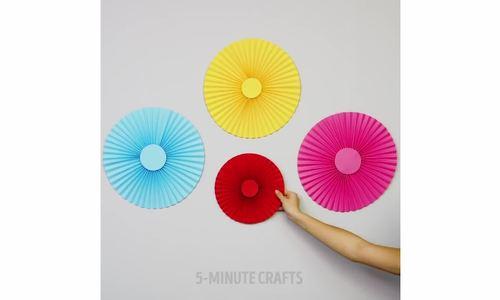 Cách làm đồ trang trí từ hai loại giấy dễ kiếm