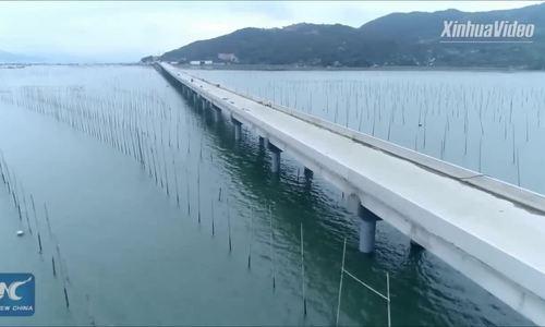 Trung Quốc sắp hoàn thành cầu vượt biển dài hơn 1.800 m