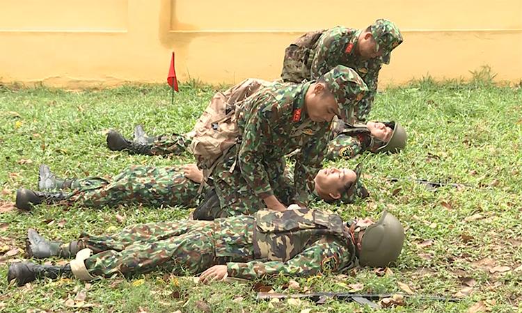 Đội tuyển quân y Việt Nam luyện tập cho hội thao Army Games 2019