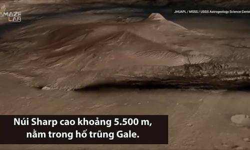 Xe thám hiểm NASA chụp ảnh núi cao 5.500 m trên sao Hỏa