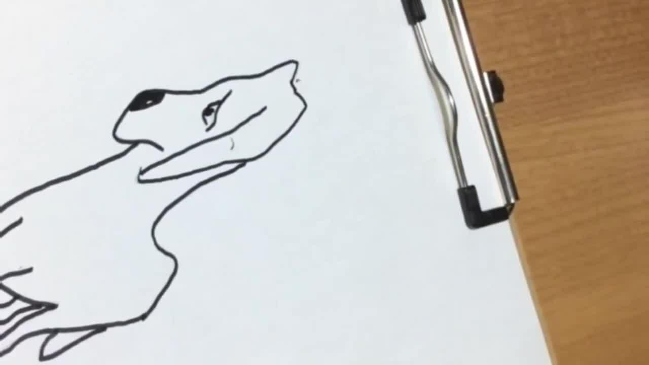 Cách vẽ con chó hình 3D