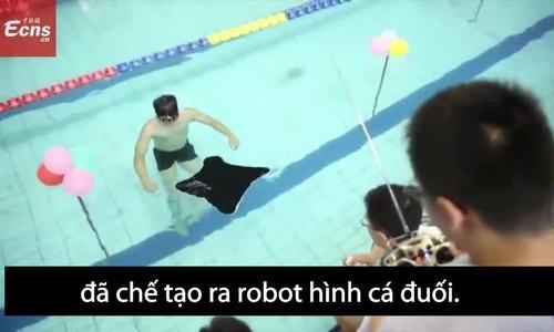 Robot thám hiểm hình cá đuối ở Trung Quốc