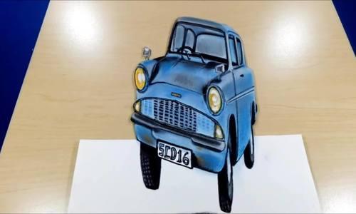 Dạy trẻ cách vẽ ôtô 3D