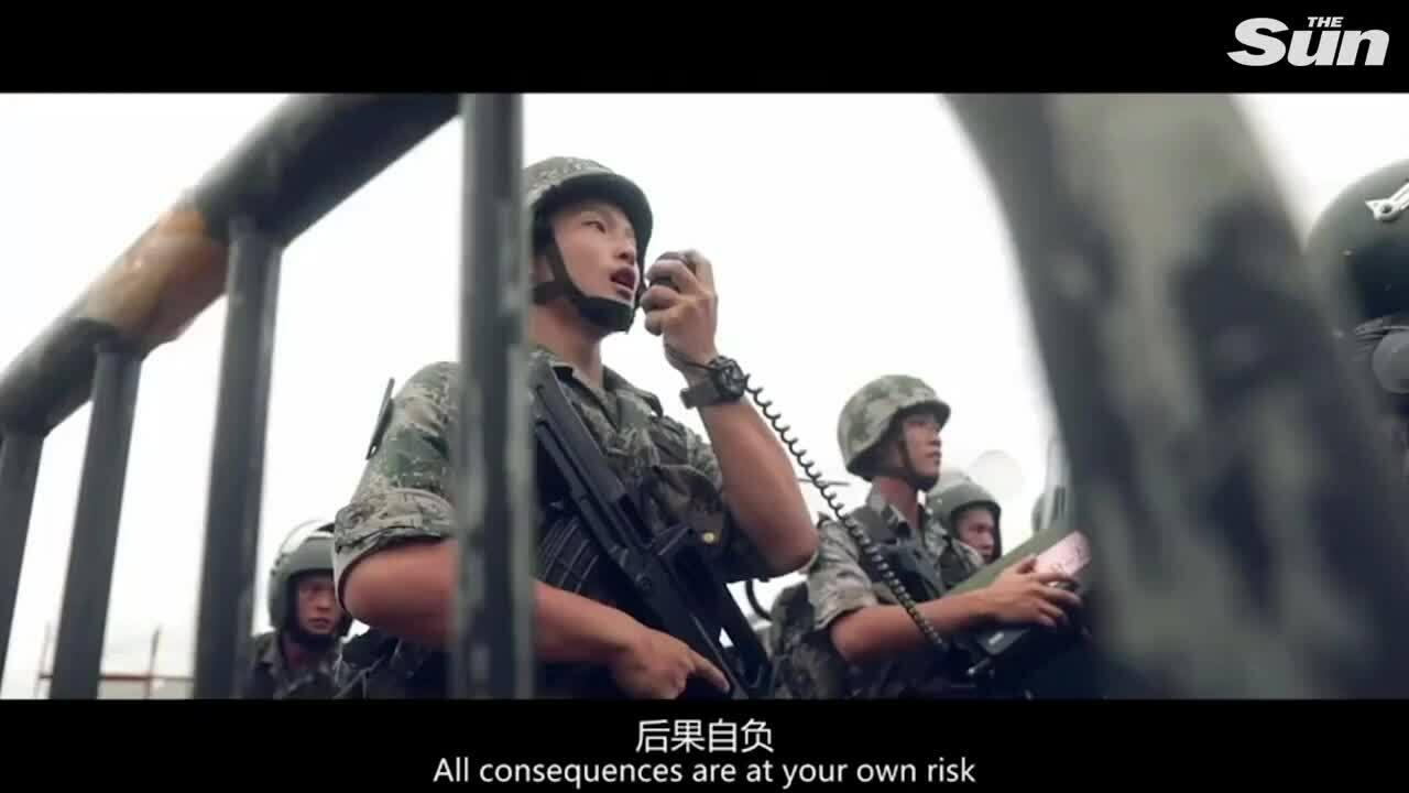 Đơn vị đồn trú của quân đội Trung Quốc tại Hong Kong diễn tập chống bạo động