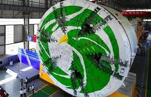 Máy đào hầm lớn nhất Trung Quốc đi vào hoạt động