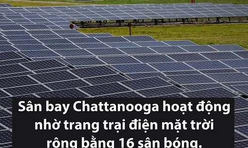 Sân bay đầu tiên sử dụng hoàn toàn điện mặt trời ở Mỹ