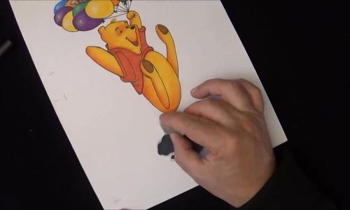Cách vẽ nhân vật hoạt hình gấu Pooh