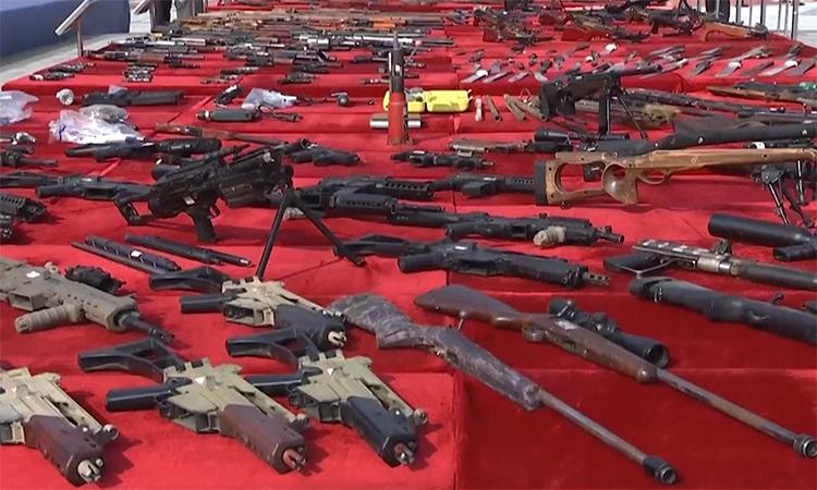 Trung Quốc tịch thu, tiêu hủy hơn 100.000 khẩu súng