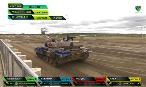 Việt Nam về nhì trong trận chung kết đua xe tăng ở Nga