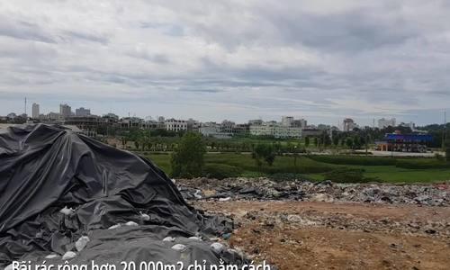Bãi rác quá tải gây ô nhiễm nặng ở Sầm Sơn