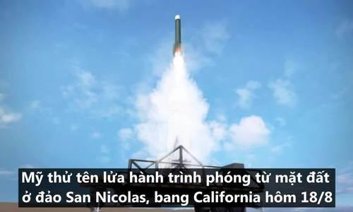 Vụ Mỹ thử tên lửa vi phạm hiệp ước hạt nhân