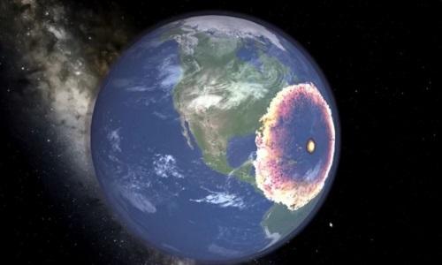 Sức công phá nếu thiên thạch 370 m đâm vào Trái Đất