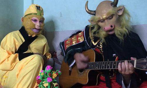 Tôn Ngộ Không hát nhạc chế cùng Ngưu Ma Vương