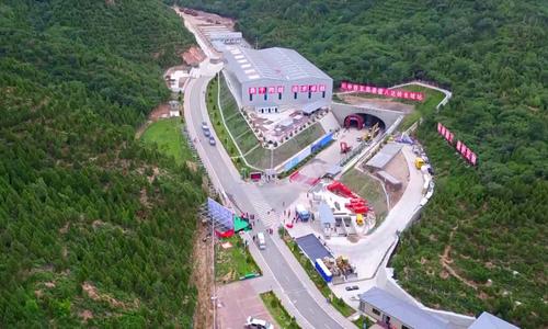 Ga đường sắt nằm sâu hơn 100 m dưới lòng đất ở Trung Quốc