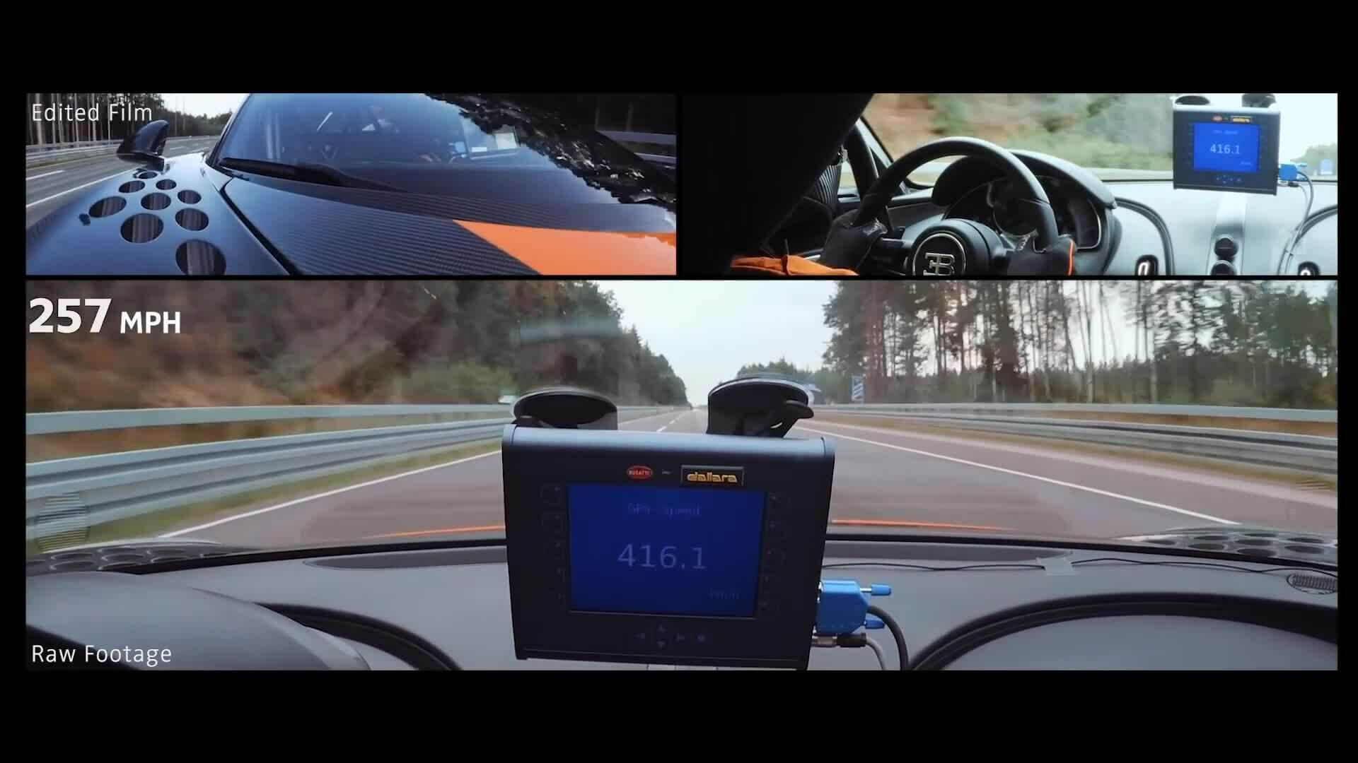Bugatti Chiron lập kỷ lục tốc độ 490 km/h