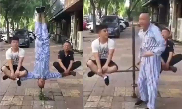 Ảo thuật gia lộ tẩy khi treo người lơ lửng trên phố