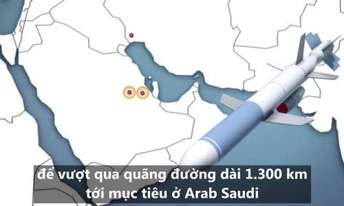 Đường bay của vũ khí tấn công nhà máy dầu Arab Saudi