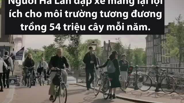 Hà Lan - nơi xe đạp 'đông' hơn người