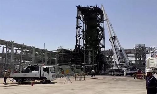 Nhà máy dầu Arab Saudi sau vụ tấn công