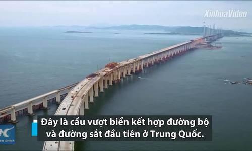 Trung Quốc sắp xây xong cầu hai tầng vượt biển